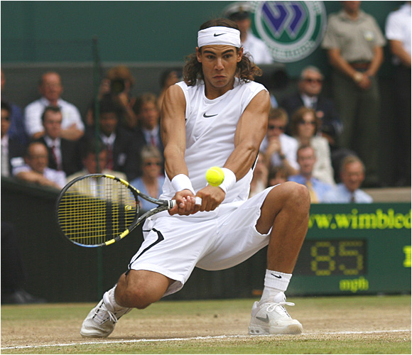No. 2 Rafael Nadal had beaten Roger Federer in four finals this year, including at the French Open in June, but couldn't match Federer on his favorite surface.