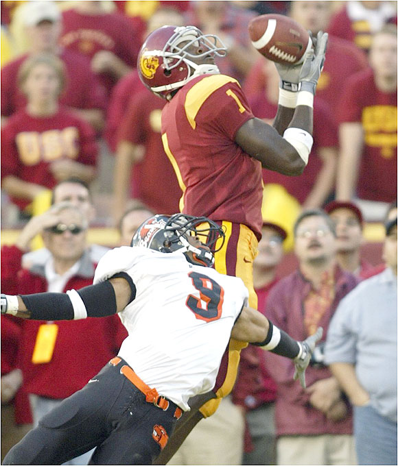 Williams set a new freshman record for receiving yards with 1,265 yards, led the Trojans with 81 receptions and was second in the nation with 14 receiving touchdowns. He also had five 100-yard receiving games, including a stretch of four in a row and caught a touchdown pass in seven straight games.