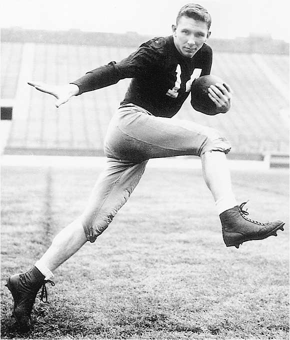 The 1953 Heisman Trophy recipient was a two-time consensus All-American and a triple threat on offense, defense and special teams. He helped lead Notre Dame to a remarkable 6-1 record in 1952-53 against Top 10-ranked teams. On offense, he rushed for 1,724 yards while averaging 4.9 per carry, caught 39 passes (15.7 yards per receptions) and completed four for 111 yards. He also was a defensive demon who recorded 13 interceptions and eight recovered fumbles. On special teams, he punted 121 times, returned two kickoffs for TDs and averaged 11.4 yards on his 27 punt returns.