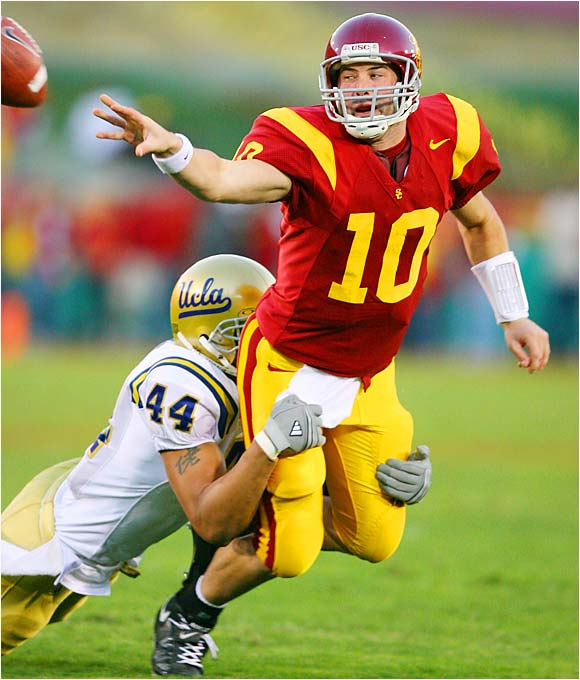 Three years after graduating high school early to join the Trojans, Booty finally takes over the reins at USC. All he has to do is live up to the precedent set by Heisman winners Carson Palmer and Matt Leinart.
