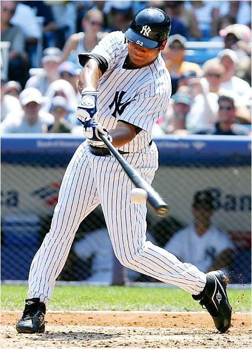 Bobby Abreu went 10 for 25 in his first week with the Yankees, batting .400 with an RBI, four runs, two walks and two stolen bases. The Yankees won five of six games to take a two-game lead over the Red Sox in the AL East.