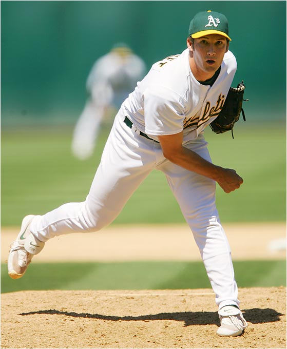 Just a year removed from the University of Texas, Street climbed rapidly through the A's system and became their closer nearly from the start of his major league career. He pitched 78 1/3 innings, striking out 72 and posting a 1.72 ERA to take home AL Rookie of the Year honors.
