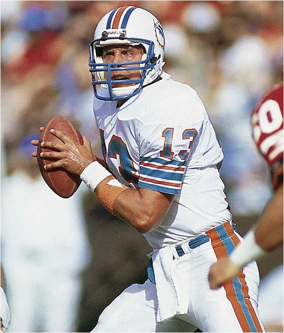 Marino never won a Super Bowl but has the second-most fourth-quarter comebacks in NFL history (37) and was at his best in the final two minutes of a game. His fake-spike and subsequent touchdown pass to Mark Ingram that beat the Jets in 1994 is one of the coolest plays ever by a quarterback. Dolphins coach Don Shula said he knew they were never out of a game with Marino at quarterback, and opponents hated seeing Number 13 over center when the clock was running down.