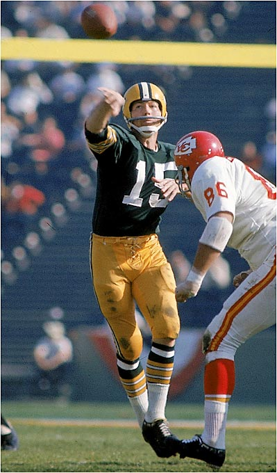"His loss to the Eagles in the 1960 NFL Championship was his last postseason defeat ever. Starr was somewhat overshadowed by the Vince Lombardi mystique and all the talent around him, but the steady quarterback made the Packers click and was at his best in big games. It was Starr who called the play on his famous game-winning sneak in the ""Ice Bowl"" against the Cowboys."