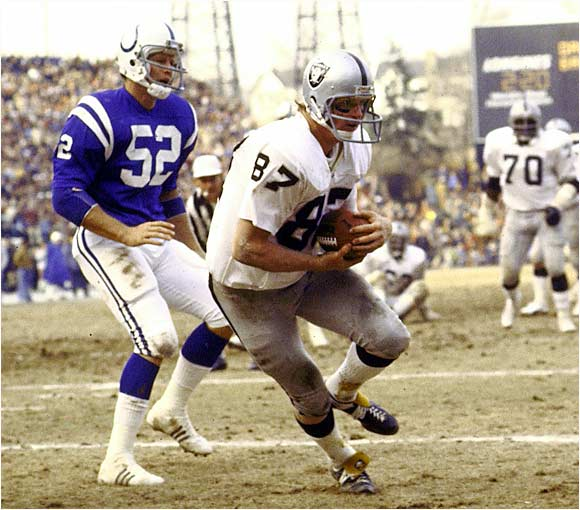 "A converted tackle out of Notre Dame, he was a key part of the Raiders' dominant teams of the 1970s. ""The Ghost"" was an outstanding blocker who averaged a gaudy 13.8 yards per catch and was especially dangerous in the clutch, coming up with numerous game-winning TDs throughout his career."