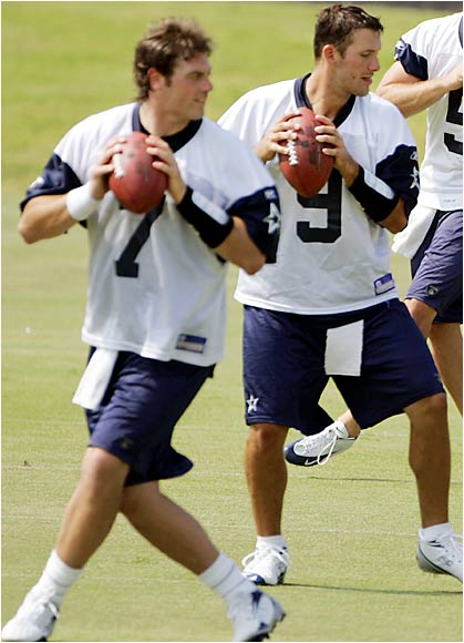 Romo (right) appears to have the No. 2 job to himself, but Dallas will be watching both players closely in the preseason to determine Drew Bledsoe's backup.