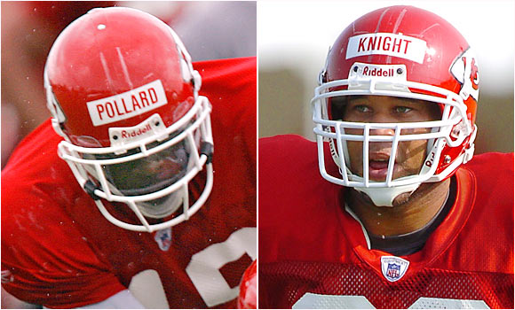 The former Pro Bowler Knight faces a serious challenge from Pollard, a rookie out of Purdue who has looked impressive.
