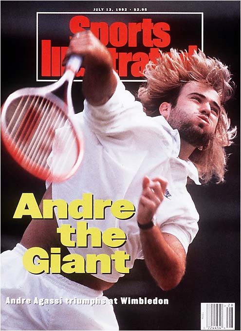 Just as tennis prepared to write Agassi off as the epitome of style over substance, he improbably won his first major. At the same event where he feuded with organizers over the dress code, the 14th seed played dazzling tennis, beating Goran Ivanisevic in the final and immediately dropping to the grass in awe.