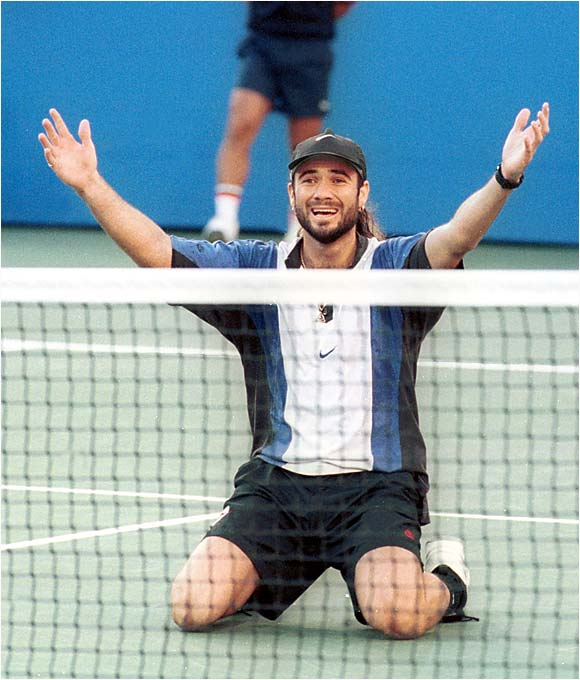 Agassi's eventual biographer might consider this a turning point. On cruise control for the previous two years, he entered with a ranking of No. 20. Midway through the tournament he finally seemed to get it, and he left New York with his second major title.