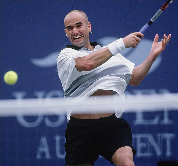 Barely 18 months removed from a ranking well outside the top 100, Agassi put the capstone on an amazing summer by winning his second title in New York. He played perhaps the best tennis of his career and, at age 29, ascended to the No. 1 ranking for the first time.