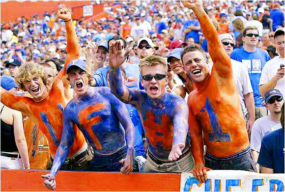 Gator fans turned out in force during this 2004 victory over Arkansas, 45-30.