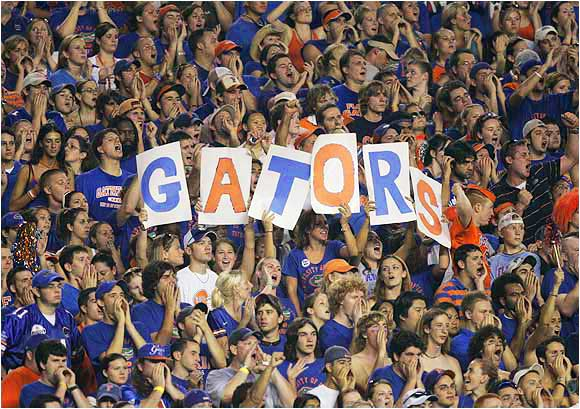 Florida fans show why they're one of the nation's top student sections during this game against Tennessee last September.