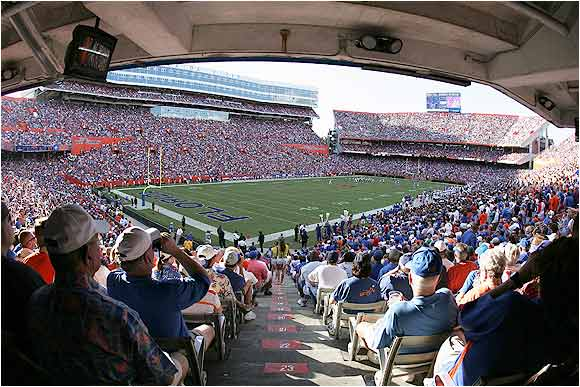 "Ben Hill Griffin Stadium has been the Gators' home since 1930. The stadium, which was nicknamed ""The Swamp"" by ex-coach Steve Spurrier, seats 88,548."