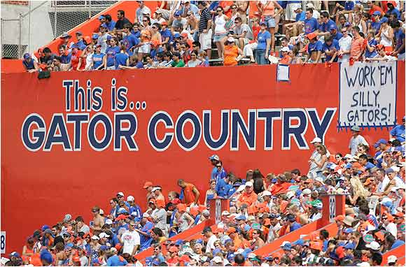 Gator fans filled the Swamp during a game against Mississippi State last season.