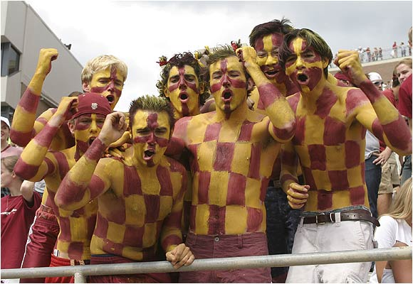 Another set of fans used body paint to show some FSU love.