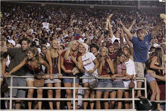 Florida State has a reputation for having the best looking female students. I wonder why?
