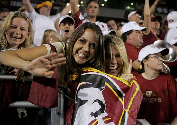 These FSU fans made the voyage to Chestnut Hill, MA. to celebrate the Seminoles' 28-17 victory over BC last September.