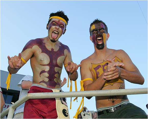 Two FSU students showed their love for the Seminoles.