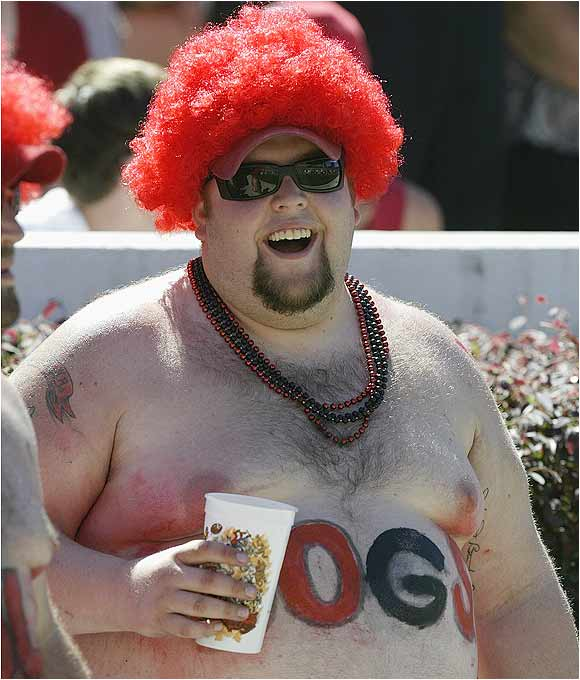 One of the Dawgs' biggest fans enjoyed the action at Sanford Stadium during this 2004 match-up against Marshall.