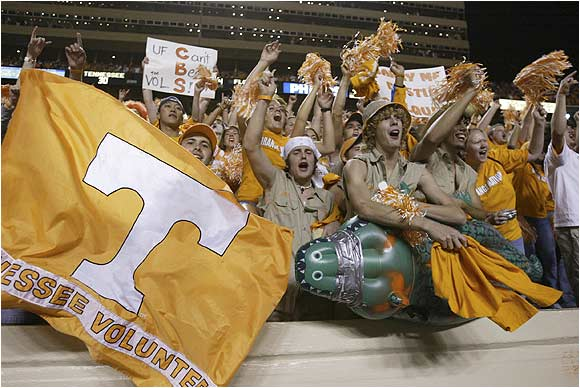 Tennessee fans got behind their Vols during a game against Mississippi last October.