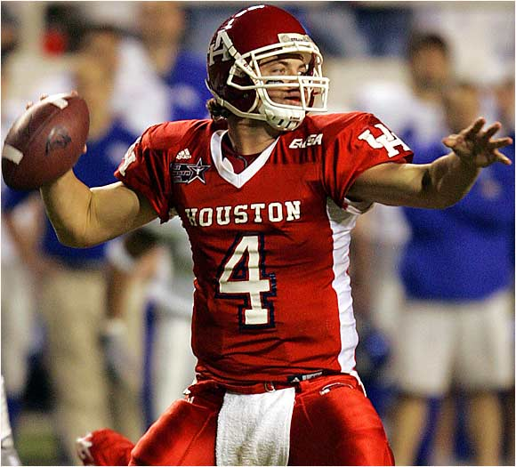 A starter since day one at Houston, Kolb has pumped out 9,752 yards and 55 touchdowns through the air and run for 17 touchdowns over the last three seasons. With a deep receiving corps returning, this should be Kolb's best season yet. He needs to throw for 3,387 yards to become C-USA's all-time leading passer.