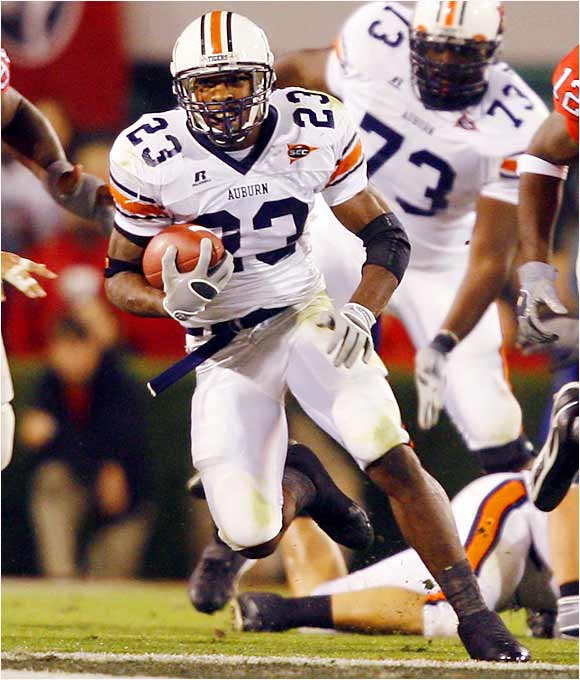 After the Tigers lost Ronnie Brown and Cadillac Williams in the first round of the NFL draft, the South Carolina transfer filled in admirably, leading the SEC in rushing with 1,293 yards. He rushed for a season-high 218 yards and a touchdown in a 20-17 OT loss to LSU.