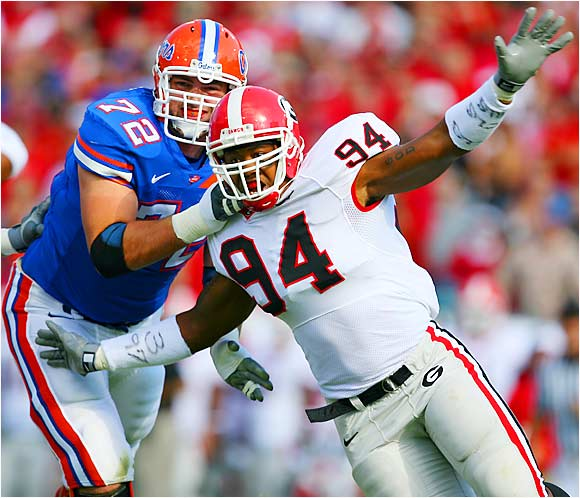 He helped Georgia fans get over the loss of David Pollack very quickly by compiling 11.5 sacks and 20.5 tackles for loss in his first season as a starter. The first-team All-SEC selection boasts enviable quickness off the edge. He and Charles Johnson should be the most dominant book-end combo in the conference.