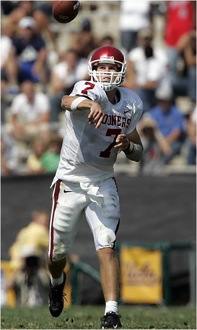"""Slated to be the Sooners' starting quarterback after setting a team freshman record with 2,018 passing yards last season, Bomar was given the boot in August for violating NCAA rules by taking """"payment over an extended period of time in excess of time actually worked."""" But he's not the first projected starter to be sacked before the season's opening kickoff. Take a look at some others."""