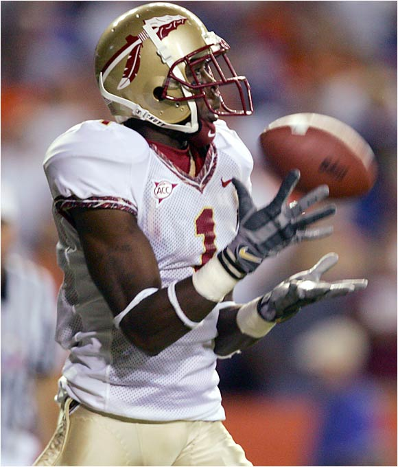"One of the most sought-after wide receivers in the nation two years ago and a speedster who played five games for the Seminoles last season, Rouse was kicked off the team in January for conduct that coach Bobby Bowden described as ""detrimental to the welfare of the team."""