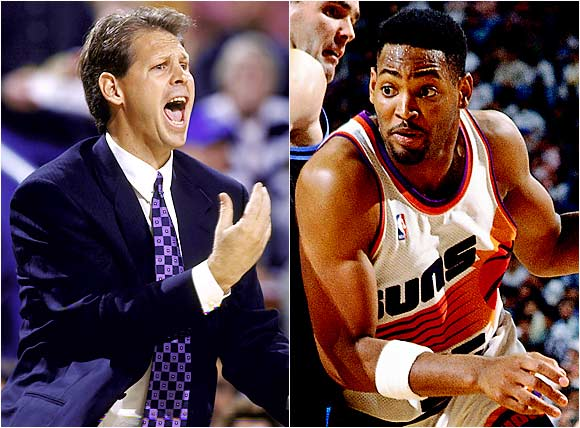 After being pulled in the fourth quarter of a game at Boston, Suns forward Robert Horry cursed at Phoenix coach Danny Ainge and threw a towel in his face.
