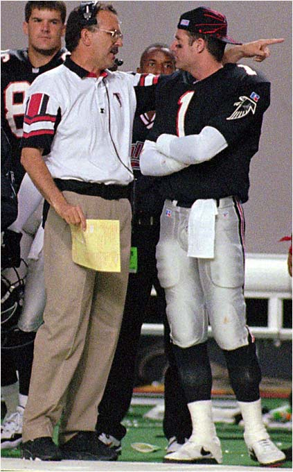 The first pick in the 1990 draft, Jeff George wasn't afraid to give coaches a piece of his mind. A sideline argument with Atlanta coach June Jones in 1996 drew George a suspension. He also had an animated discussion with Marty Schottenheimer when both were with the Redskins.