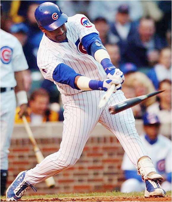 """After all the blunders experienced by Cubs fans, Sammy Sosa went from hero to goat in his last years. From his corked bat to refusing to suit up for the last game his last season to lying about steroid use, he rates to me as a major embarrassment to all fans, baseball and Cubs fans in particular. The result, he's not even playing ball anymore."" -- Chuck Bradford, Pontiac"