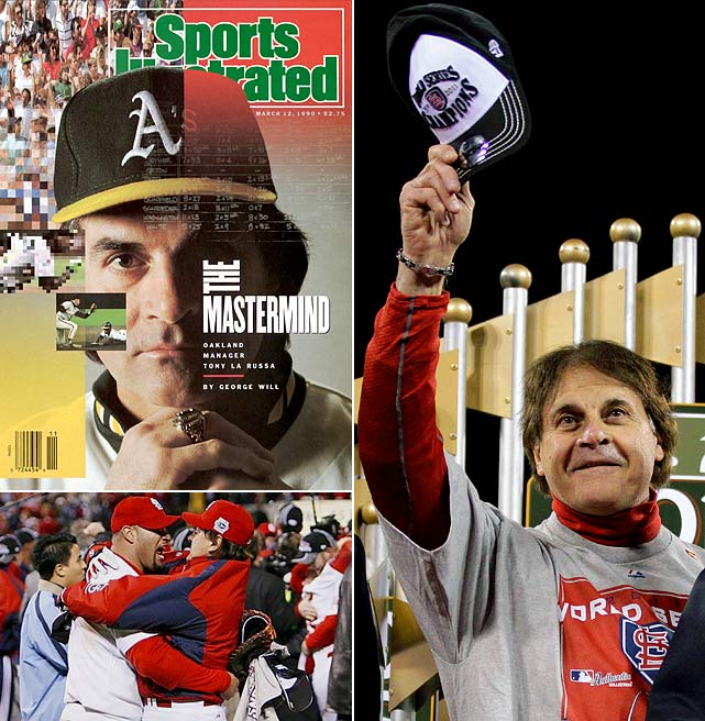 A four-time manager of the year, La Russa retired on top after leading the Cardinals to the 2011 World Series title. He won with Oakland in 1989, and St. Louis in 2006 and 2011, joining Sparky Anderson as the only manager to win a World Series title with clubs in the American and National Leagues.