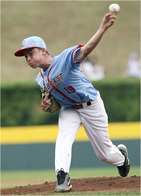 Kyle Carter struck out 11 batters in the championship game and became the first pitcher in LLWS history to earn four wins in the tournament.