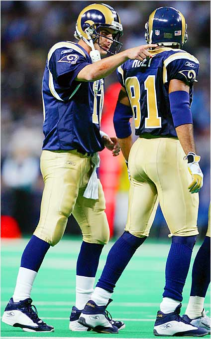 Watch out for the St. Louis passing offense when Marc Bulger and Torry Holt are on the field together. Although the Rams may not pass as much under new coach Scott Linehan as they did before, Bulger and Holt have proven they're in sync in the vertical passing game, so when the Rams do look downfield, good things will likely happen.
