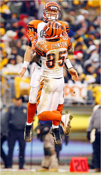 Palmer and Johnson once took a trip to Indianapolis to see how Peyton Manning and Marvin Harrison worked together. They obviously learned something, because last season they were nearly unstoppable. Palmer's injured knee concerns Bengals fans, but if he stays healthy, this duo is on its way to becoming one of the most prolific in NFL history.