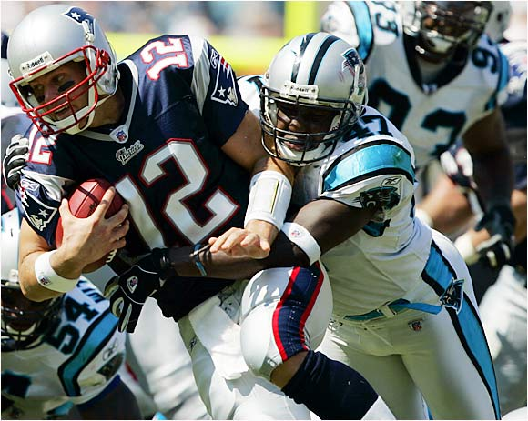Last season he bounced around from linebacker to safety, but with the departures of Will Witherspoon and Brandon Short, the Panthers need Davis to be their full-time strongside linebacker. Playing one position should help the athletically gifted Davis become consistent. Carolina's defensive line creates so much pressure on the quarterback that Davis will be in great position to make big plays.
