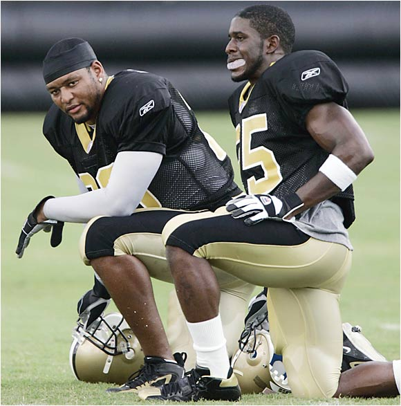 Deuce McAllister was scheduled to make his preseason debut Monday night against the Cowboys. The sixth-year running back is recovering from knee surgery and admits he's not 100 percent yet. Reggie Bush has already shown his dazzling skills, highlighted by a 44-yard scamper against the Titans last week. If McAllister doesn't look explosive, the Saints might move Bush to No. 1 on the depth chart.