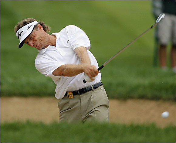 Playing in his 20th PGA Championship, Bernhard Langer shot an opening-round 76.