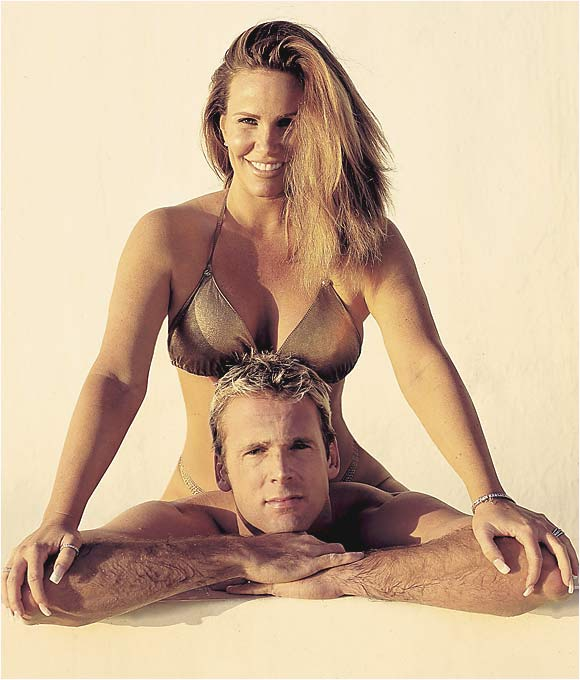 Seen here with ex-husband Chuck Finley, Kitaen forever will be known as the Whitesnake video vixen.