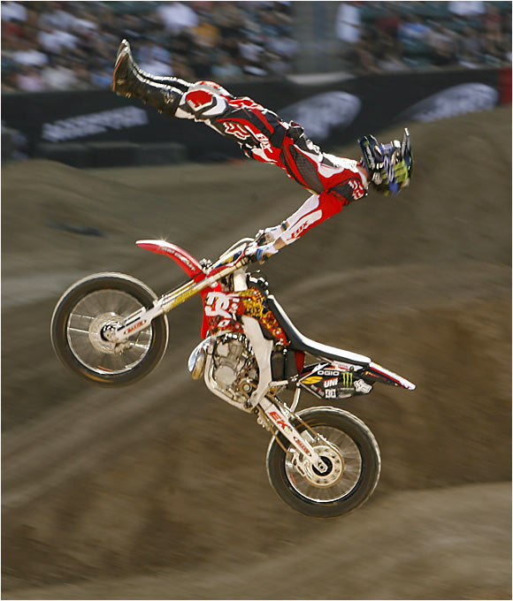 He had one of the Games' more unique runs in the Moto X Freestyle competition, which featured a dead body, a kiss of death, a backflip cordova, a cliffhanger and a backflip can-can to a saran wrap. Unfortunately, Jones had to settle for silver as he couldn't top gold-medal-winner Travis Pastrana.