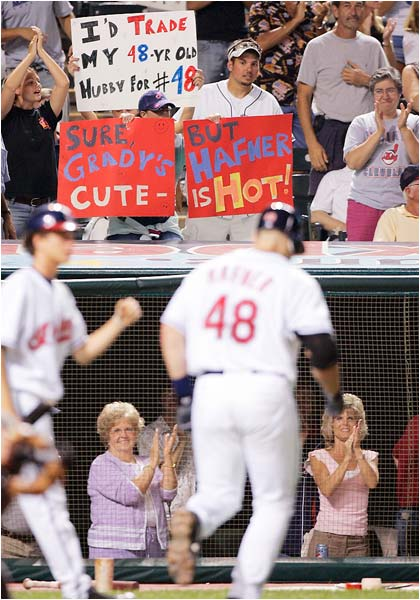 It seems that men and women of all ages have a thing for Travis Hafner.