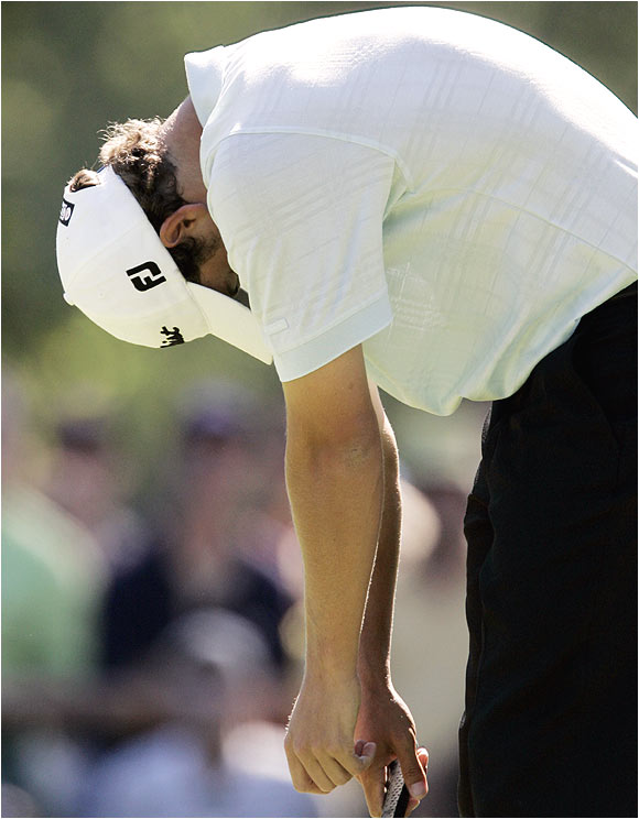 Adam Scott made a final-round charge, carding a 5-under 67. But it wasn't nearly enough to catch Tiger Woods.
