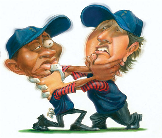 Tiger and Phil play together for the Euros