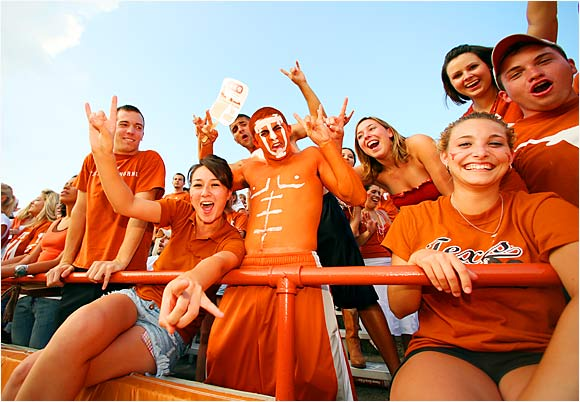 Despite the Longhorns' poor showing on the field, these Texas fans still managed to have some fun during last Saturday's loss to Ohio State.
