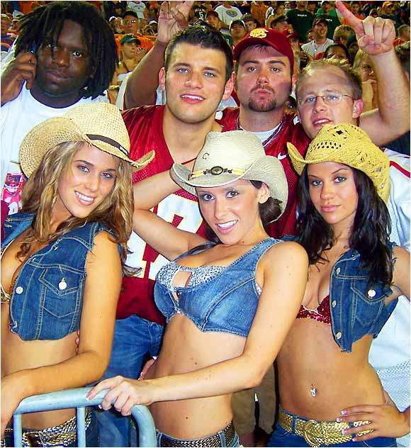 From Week 1's leftover file, Jenn Sterger and friends enjoy the Seminoles 13-10 victory over Miami.