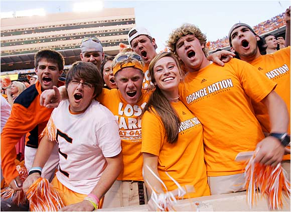 These members of Orange Nation were pumped for the start of Saturday's Tennessee-Florida game. Three hours later, they went home unhappy after watching the Vols lose by a point to the Gators.