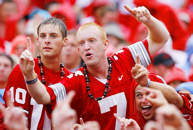 No, this isn't Ted Ginn, Jr., but this fan was certainly impressed with Ohio State's dominance of Penn State. The Buckeyes beat the Nittany Lions, 28-6 at Ohio Stadium on Saturday.