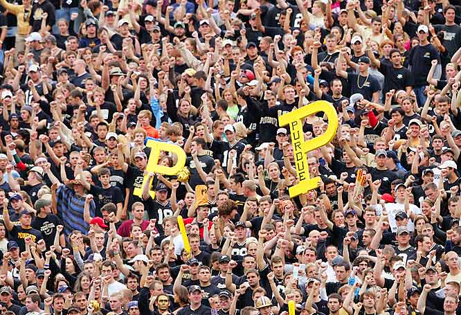 Purdue fans came out in droves to support their Boilermakers in a 27-21 victory over Minnesota.