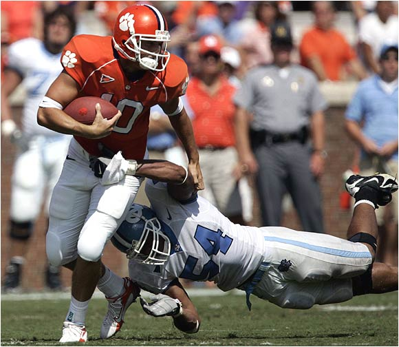 The Tigers, who held the Tar Heels to 150 total yards, ended with 324 yards on the ground, the first time they cracked the 300-yard rushing mark since a 59-31 win over Duke in 2001.